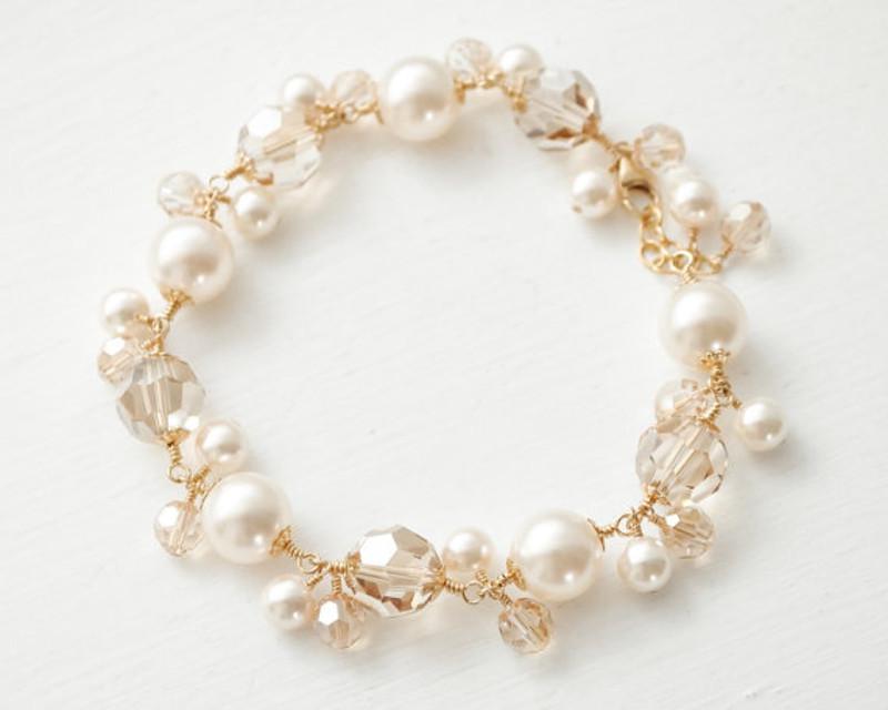 Vienna_Bridal Crystals and Pearls Bracelet