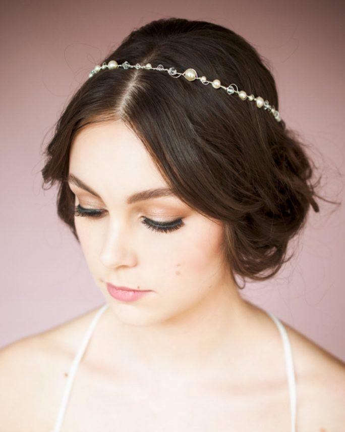 Christie_Bridal Hair Accessory Halo Headband with Pearls