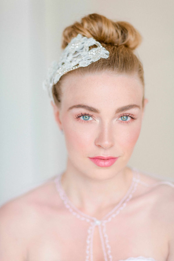 Muse_Bridal Hair Accessory_Headband Fascinator with Crystal and Lace