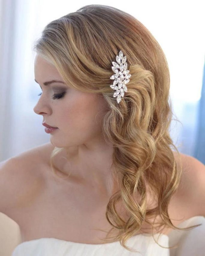 Darcey_Bridal wedding Comb with marquise crystals