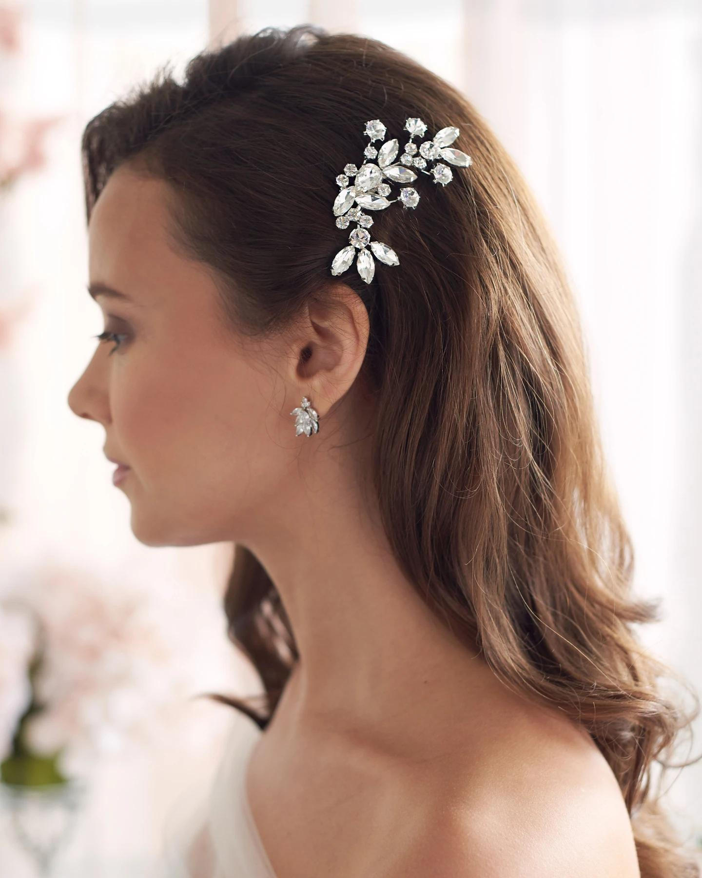 Monica_Bridal wedding Silver Crystal Comb