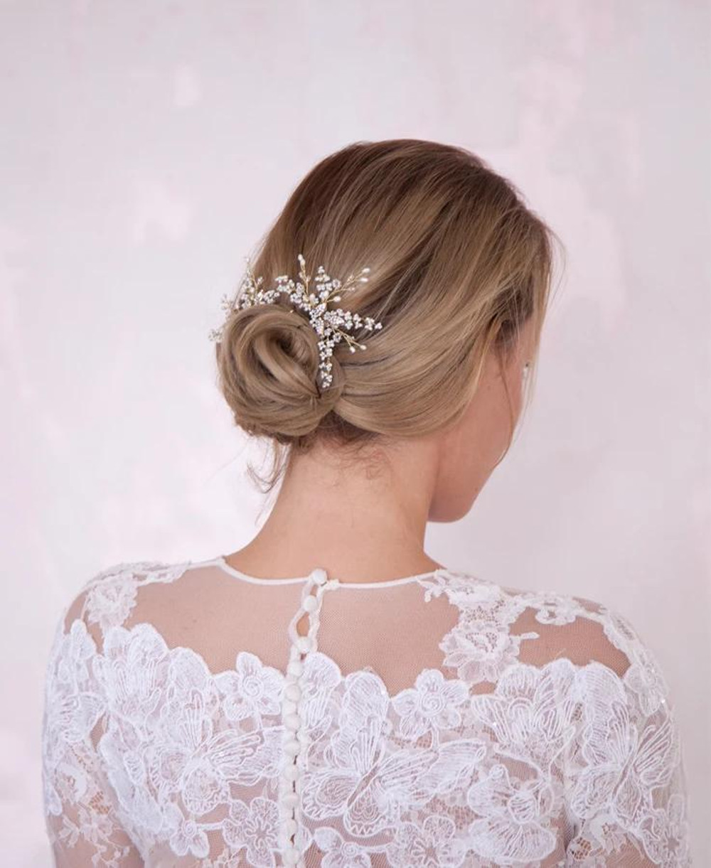 Charlotte_Floral Bridal Hair Pins with Pearls and crystals